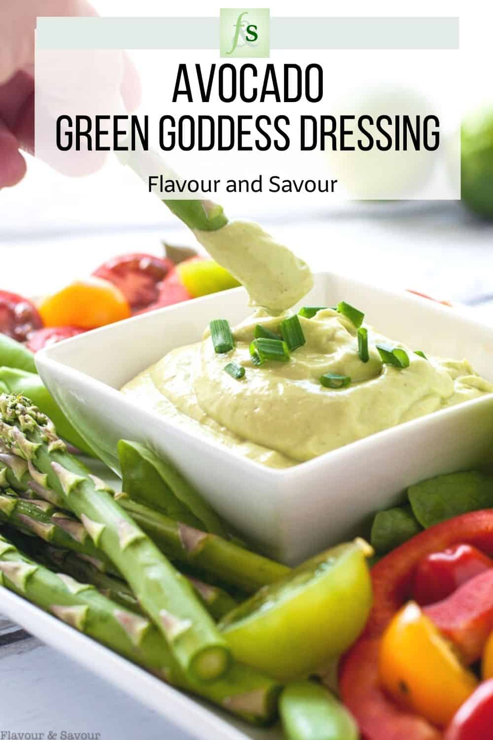 Image and text for Avocado Green Goddess Dressing