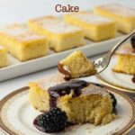 Flourless Lemon Almond Ricotta Cake with title