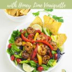 Pinterest pin 3 for Shrimp Fajita Salad
