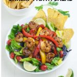 Shrimp Fajita Salad Pinterest Pin 5