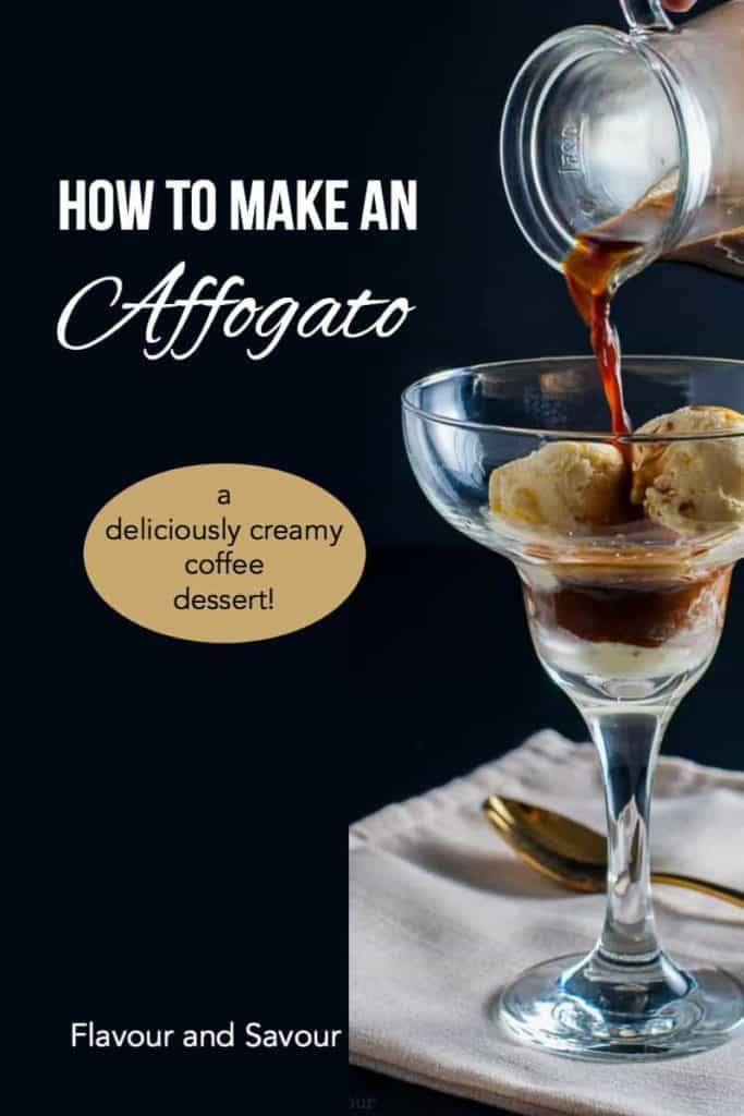 Pinterest pin for Affogato Coffee Dessert