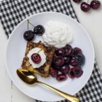 Chocolate Espresso Baked Oatmeal with cherries oh cu