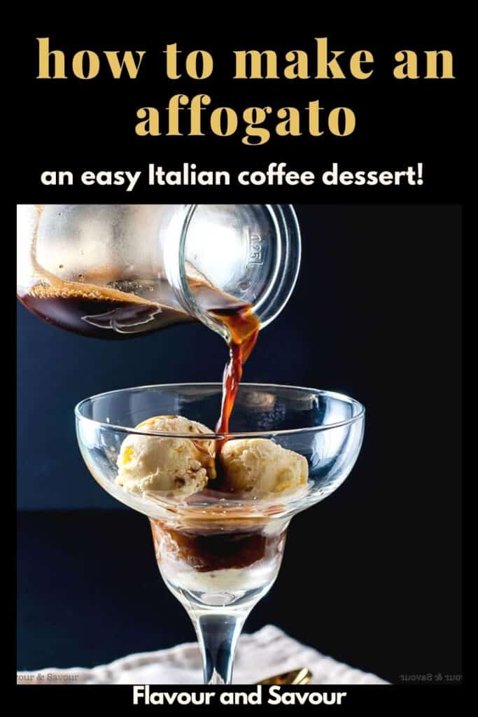 Image and text for How to make an affogato coffee dessert