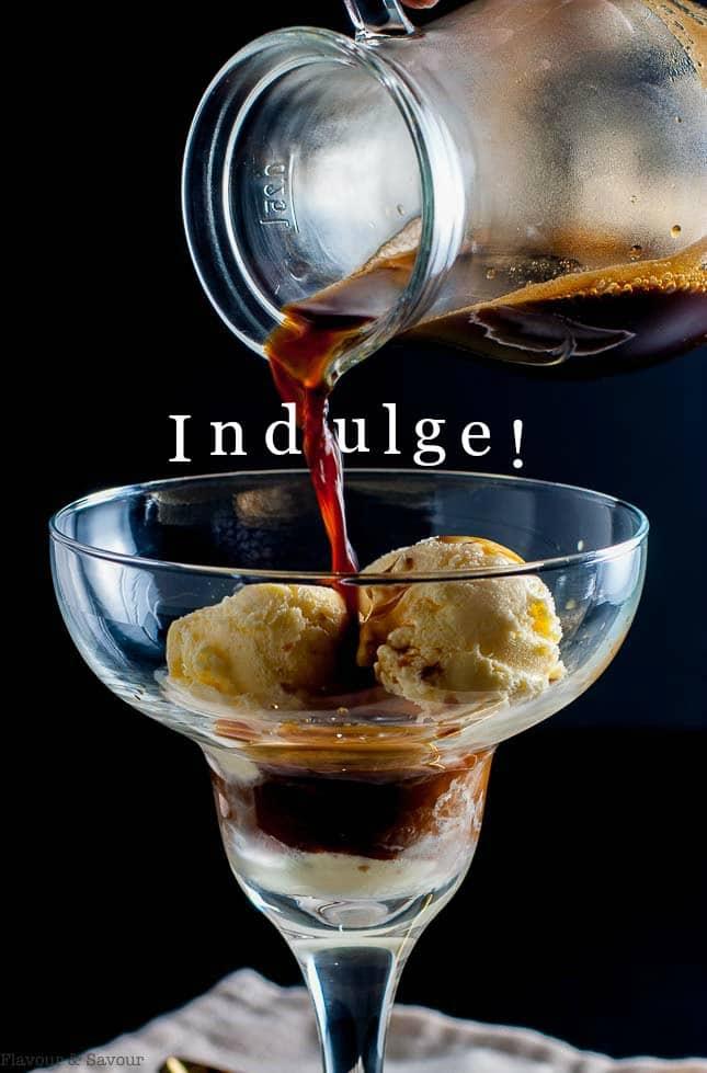 Pinterest PIn. Affogato coffee dessert in a margarita glass