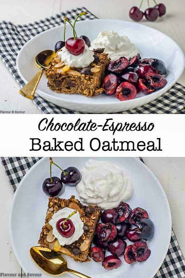 Chocolate Espresso Baked Oatmeal pin
