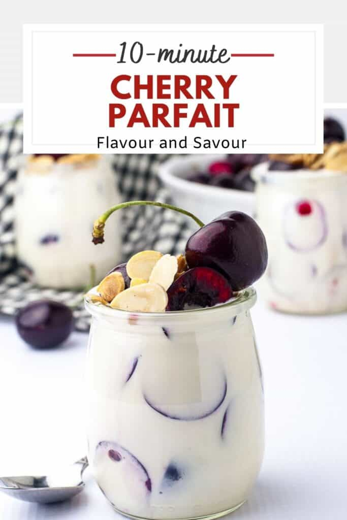 image with text for Cherry Parfait