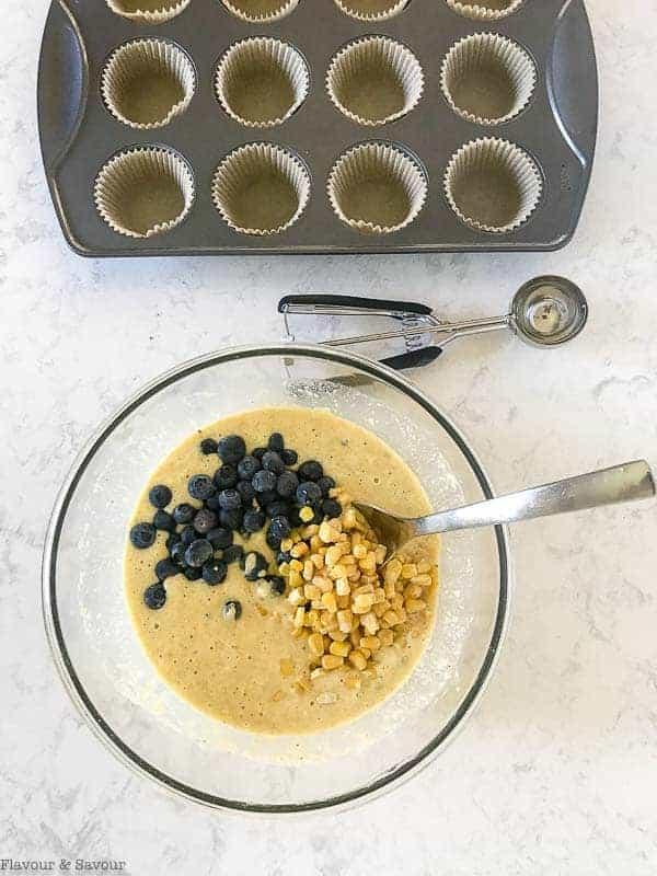 Blueberry Buttermilk Gluten-Free Cornbread Muffins