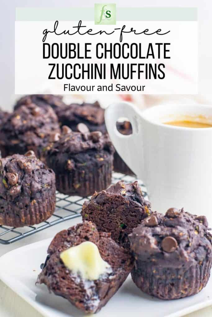 Image and Text for Double Chocolate Zucchini Muffins