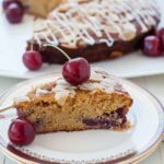 Flourless Cherry Almond Ricotta Cake with fresh cherries.