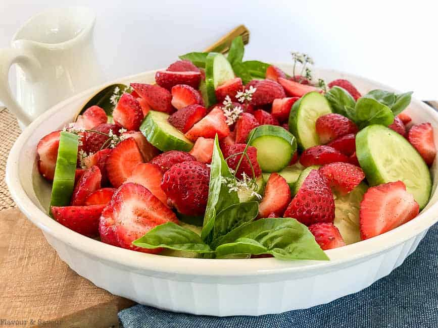 Strawberry Cucumber Salad with Creamy Lemon Dressing