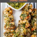10-Minute Grilled Chimichurri Shrimp Skewers pin