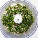 Chimichurri Sauce for Grilled Chimichurri Shrimp Skewers in food processor