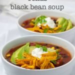 Slow Cooker Vegan Texas Black Bean Soup title