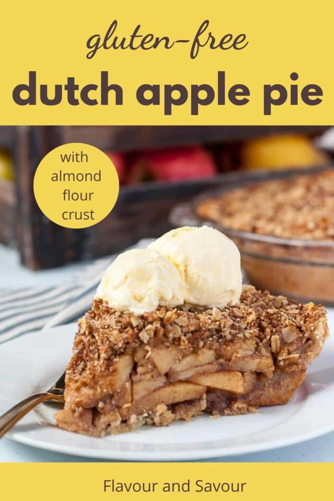 Pinterest pin for Dutch Apple Pie