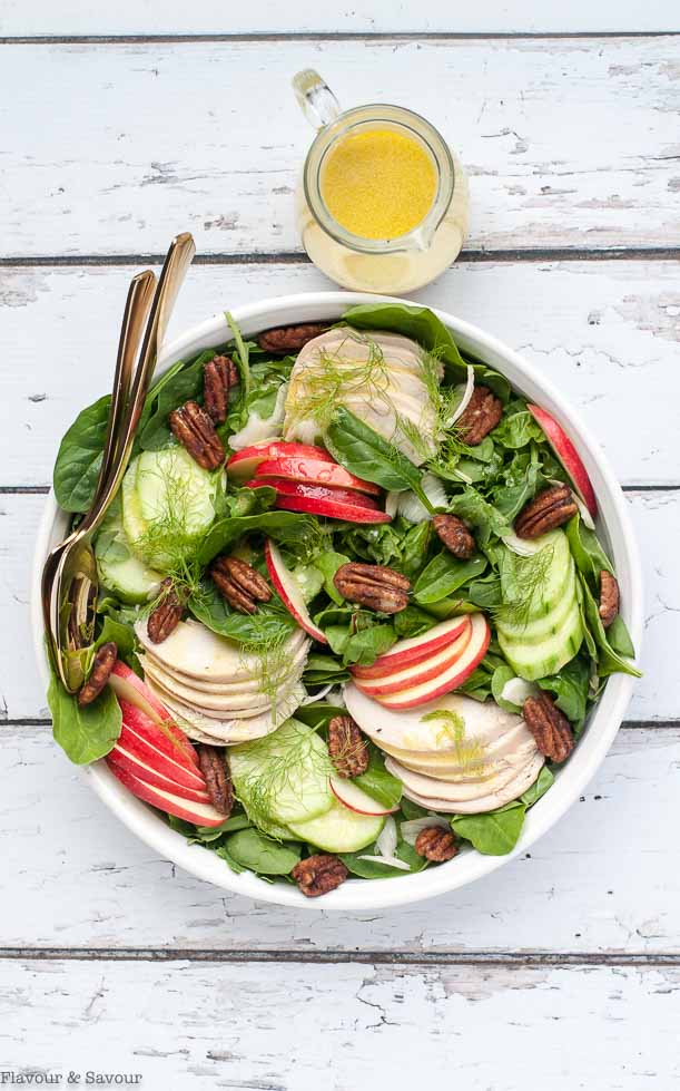 Fennel Apple Chicken Salad With Pumpkin Spice Pecans Flavour And