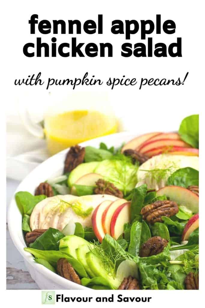 Graphic for Fennel Apple Chicken Salad with Pumpkin Spice Pecans