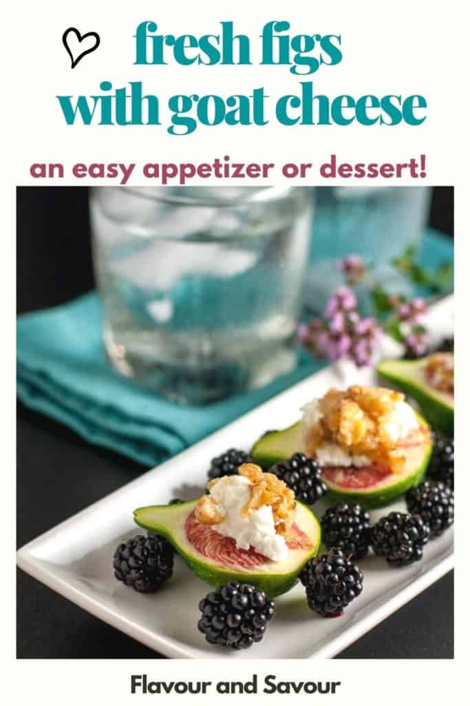 Text and Image for Fresh Figs with Goat Cheese