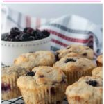 Pinterest Pin for Keto Blackberry Muffins