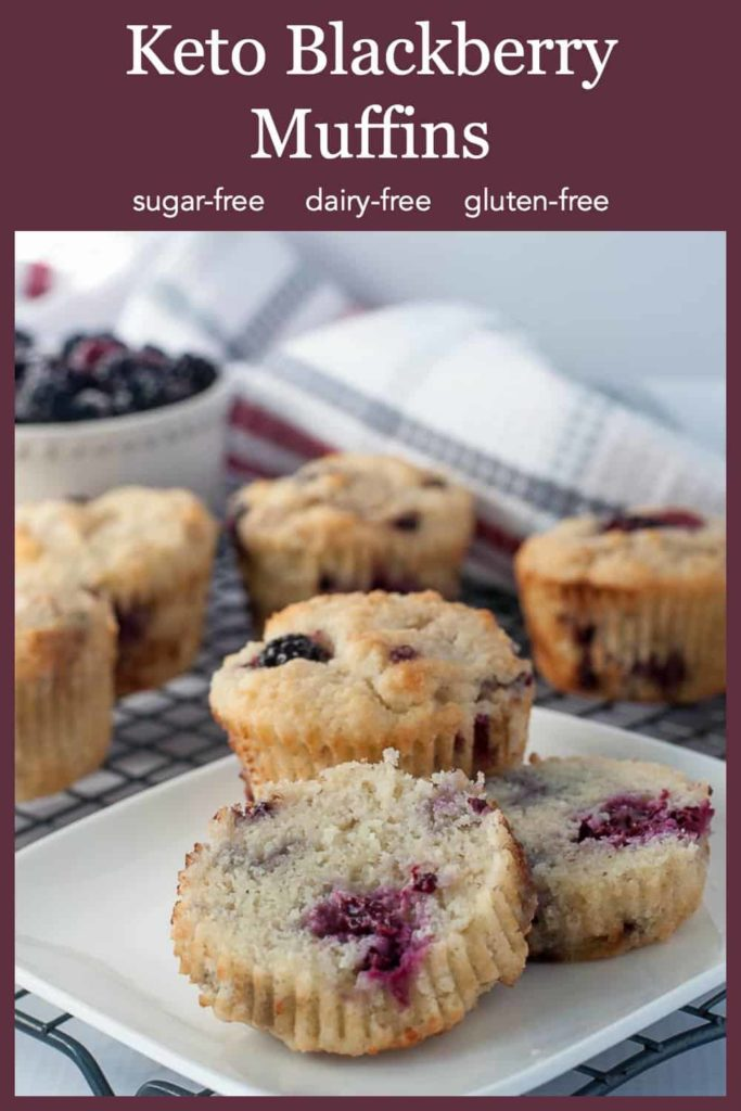 pin for Keto Blackberry Muffins
