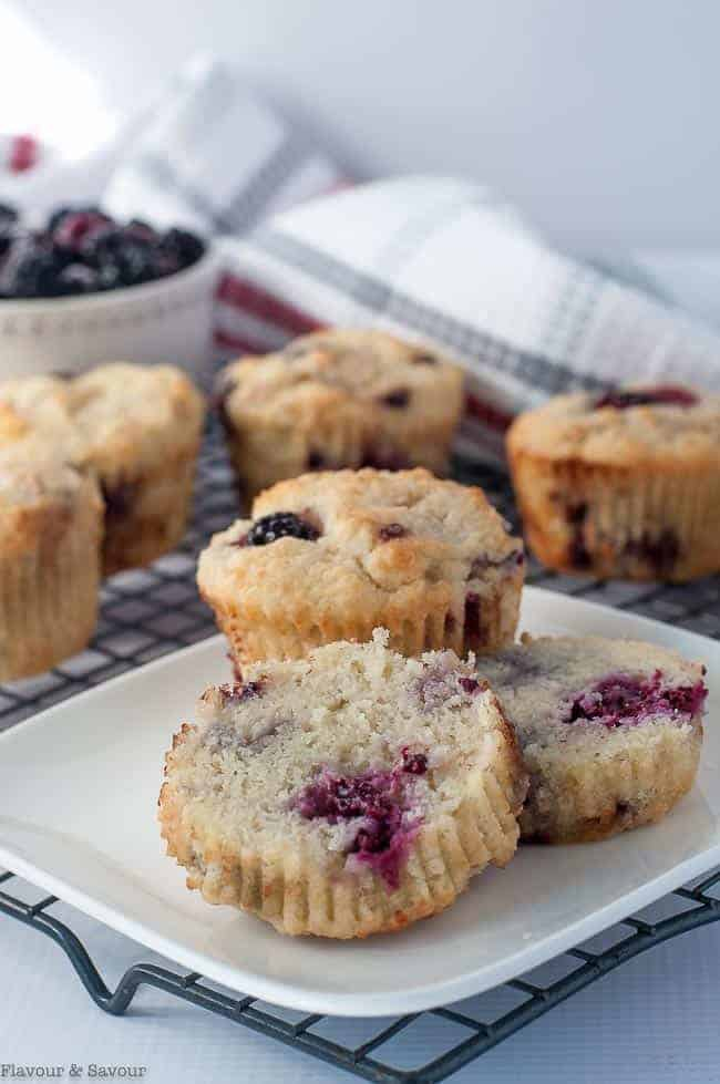 Ultra Moist Keto Blackberry Muffins
