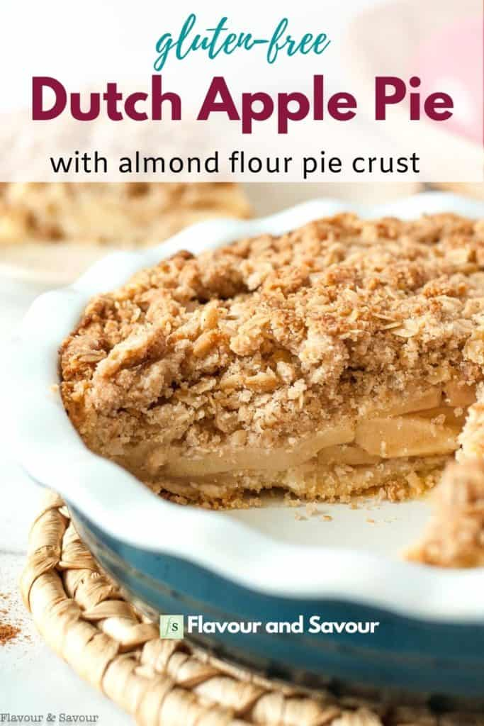 Image and text for Gluten-free Dutch Apple Pie with almond flour crust