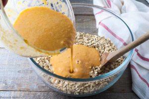 Cranberry-Apple Pumpkin Baked Oatmeal prep