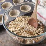Cranberry-Apple Pumpkin Baked Oatmeal preparation