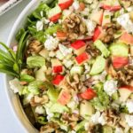 Crispy Fennel Apple Chopped Salad with Walnuts and Feta Cheese