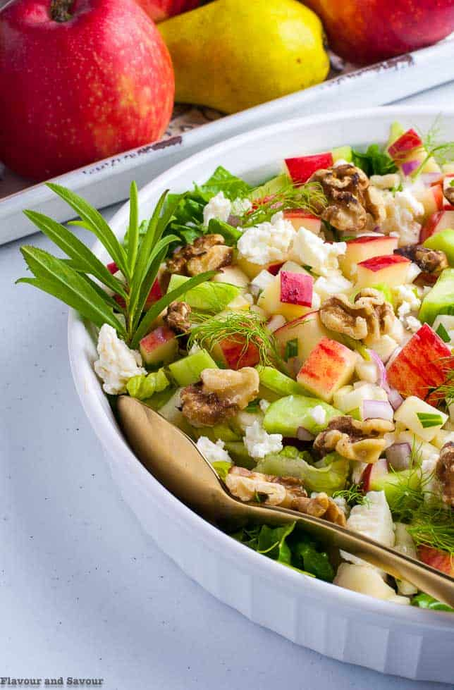 Fennel Apple Chopped Salad with walnuts and tarragon
