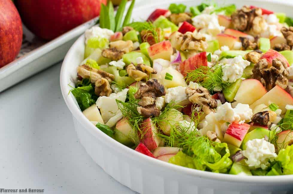 Fennel Apple Chopped Salad with Walnuts