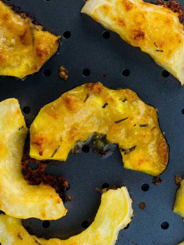 Garlic Parmesan Roasted Acorn Squash close up