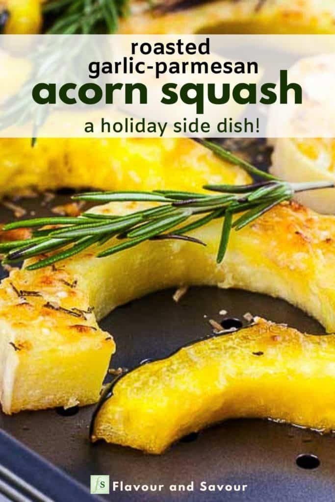 Image and text overlay Roasted Acorn Squash