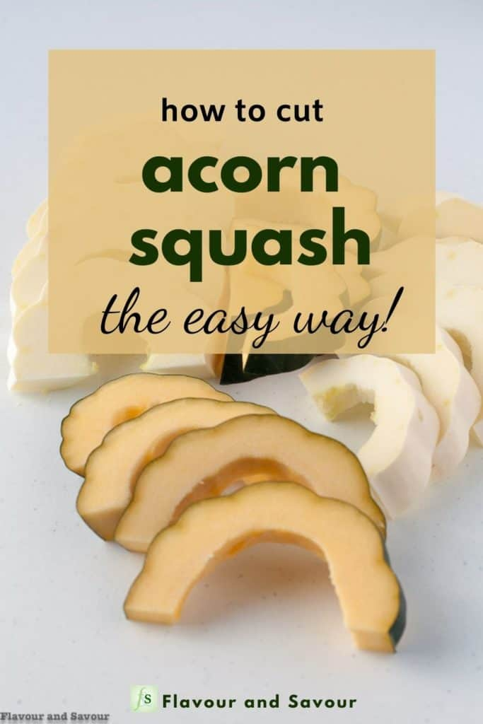 Image and text overlay How to Cut Acorn Squash