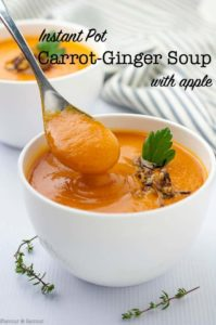 Instant Pot Carrot Ginger Soup with Apple title