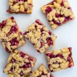 Pomegranate Apple Crumble Bars overhead view