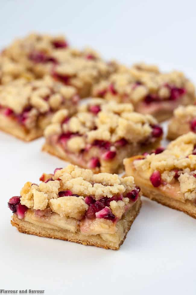 Pomegranate Apple Crumble Bars