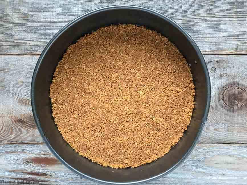 Preparing Crust for Low-Carb Gluten-Free Pumpkin Cheesecake