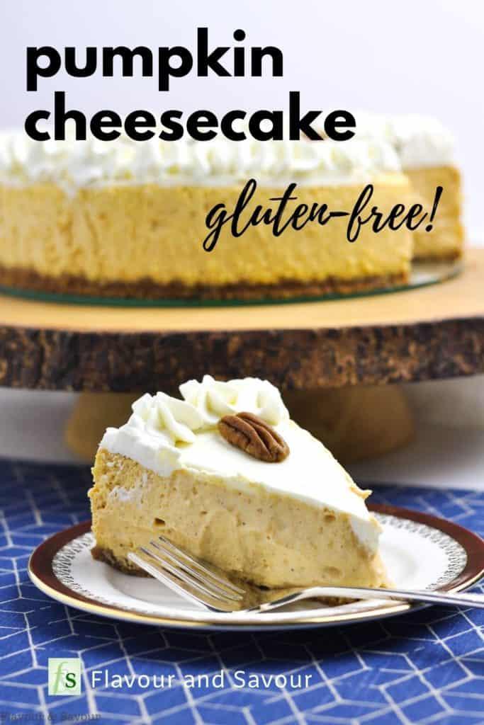 Pinterest image for Pumpkin Cheesecake