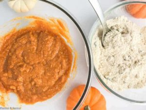 Preparing Mini Gluten-Free Pumpkin Loaf or Muffins