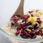 Mixing Dry Ingredients for Gluten-Free Cranberry Lemon Muffins