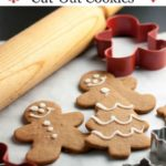 Pinterest pin for Gingerbread Cut-Out Cookies