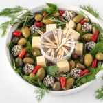 Holiday Cheese and Olive Wreath Appetizer