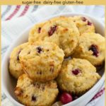 Pinterest Pin Cranberry Lemon Muffins