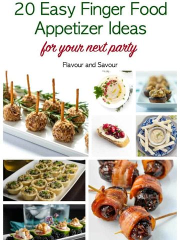 20 Easy Finger Food Appetizer ideas for your next party pin