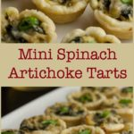 Pin for Spinach Artichoke Tarts