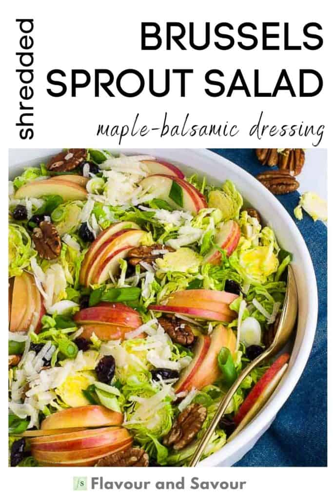 Image and text for Brussels Sprout Salad
