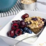 Cherry Vanilla Baked Oatmeal Cups