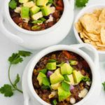 Instant Pot Vegan Chipotle Chili overhead view