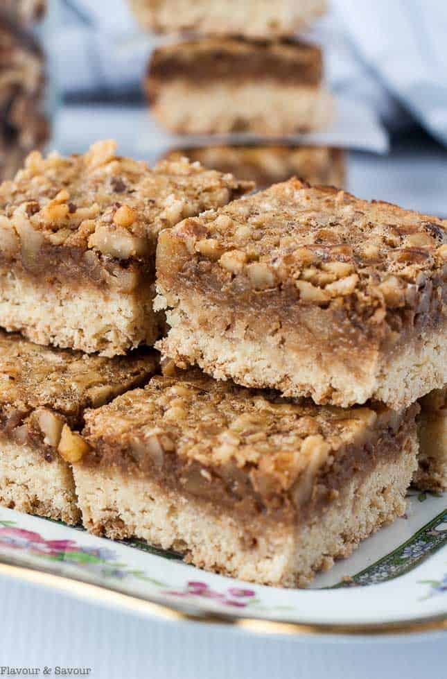 Gluten-Free Maple Walnut Squares close up view