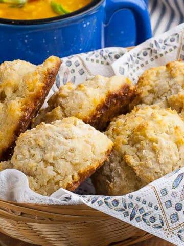 Baking Powder Biscuits in a basket